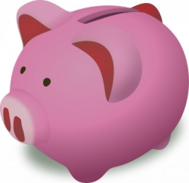 Alcancía de color rosa | Descargar Vectores gratis