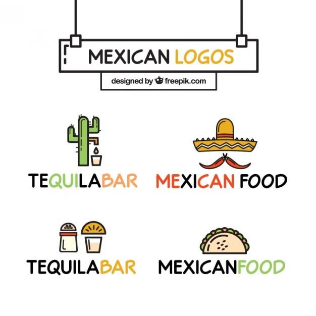 Alegres logos de restaurante de comida mexicana | Descargar Vectores ...
