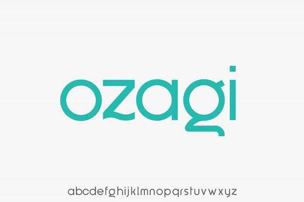 Alfabeto creativo de fuente sans serif moderna Vector Premium