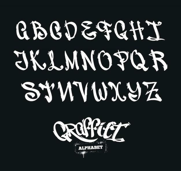 Alfabeto de graffiti vector gratuito