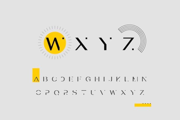 Alfabeto mínimo abstracto Vector Premium
