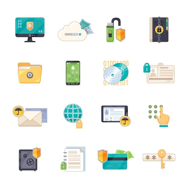 Almacenamiento seguro de datos personales vector gratuito