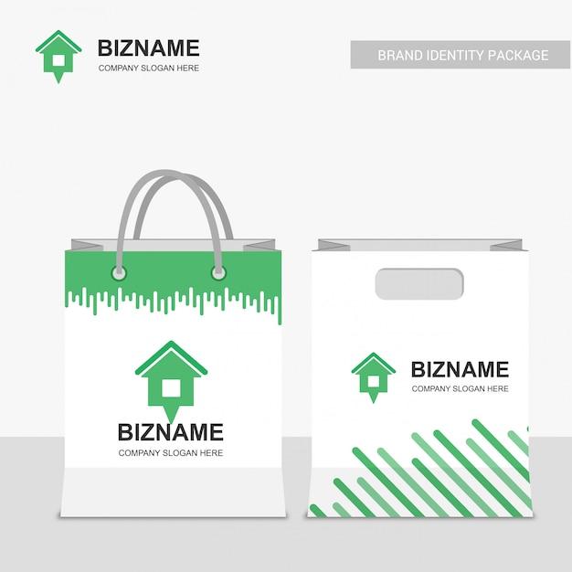 Alquiler bolsa de compras y sobre vector gratuito