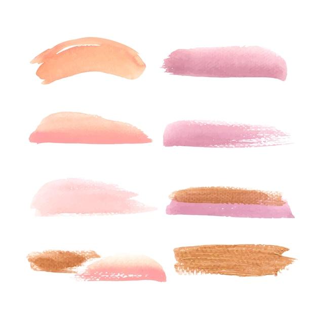 Amarillo, naranja y rosa splash acuarela dibujado a mano ilustración para uso decorativo. vector gratuito