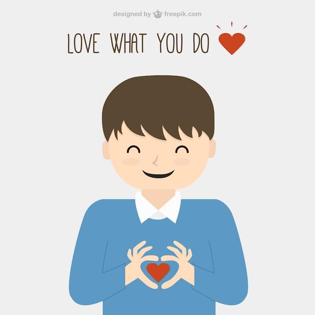 Amas lo que haces Vector Gratis