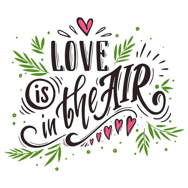 El amor está en el aire Vector Premium