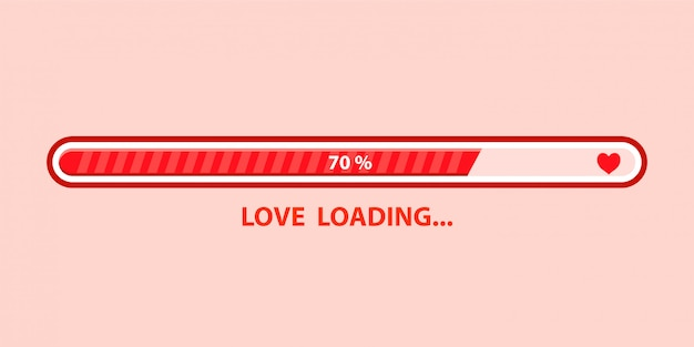 Amor cargando Vector Premium