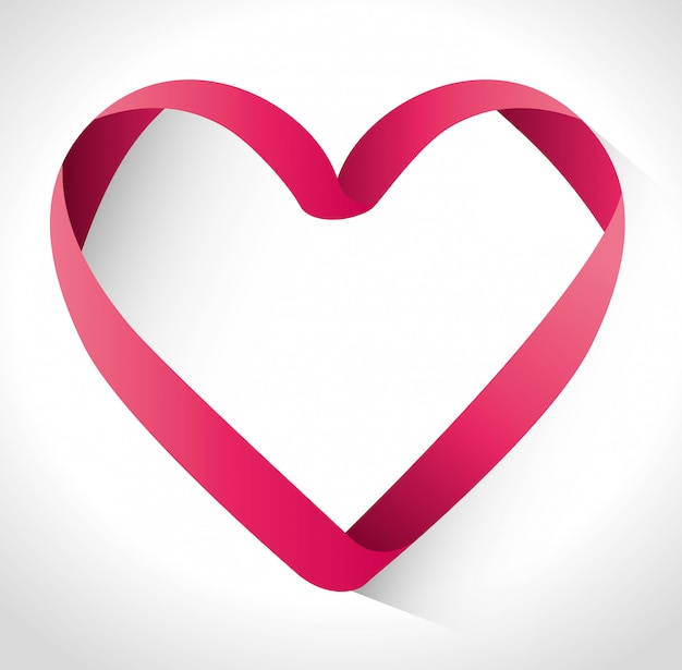 Amor diseño Vector Premium