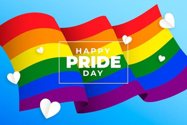 El amor es amor orgullo día bandera y corazón vector gratuito