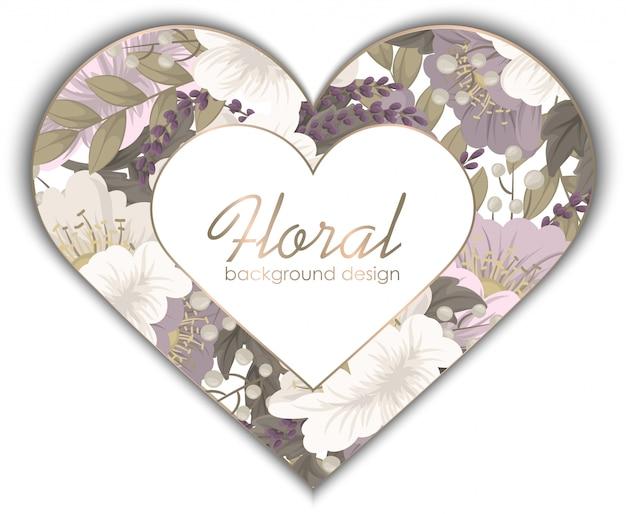 Amor flor marco día de san valentín vector gratuito
