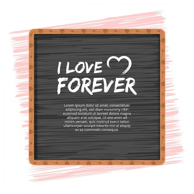 El amor o el concepto del día de san valentín Vector Premium