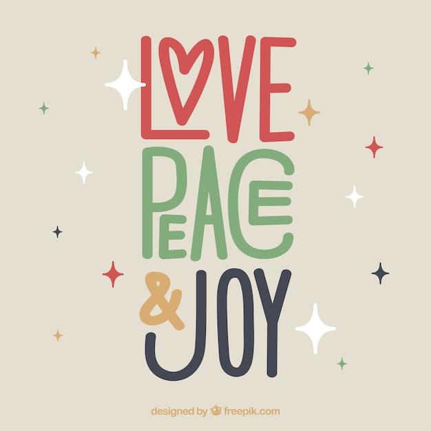 Amor, paz y alegría vector gratuito