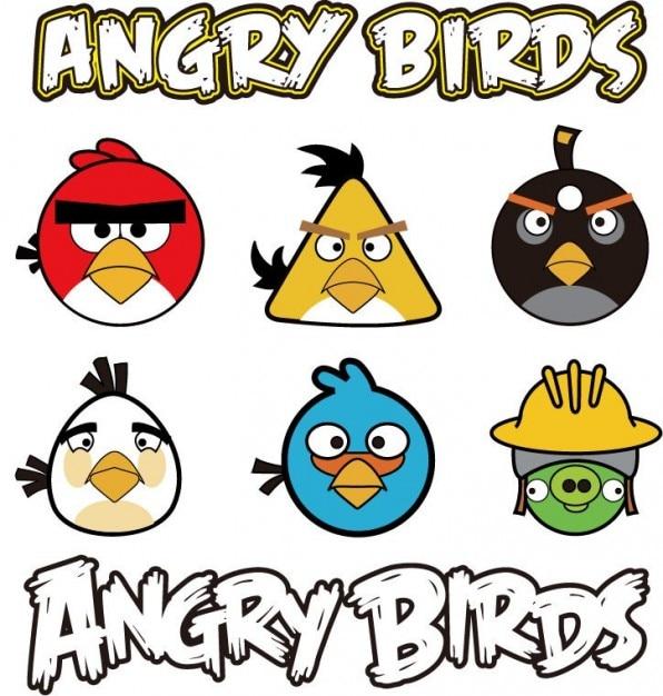 Angry Birds gráfico vectorial Vector Gratis