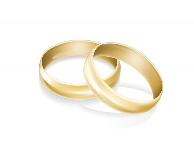 Anillos de bodas de oro | Descargar Vectores gratis