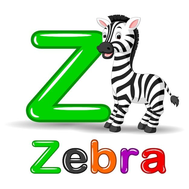 Animal de cebra y letra z para niños educación abc | Descargar ...