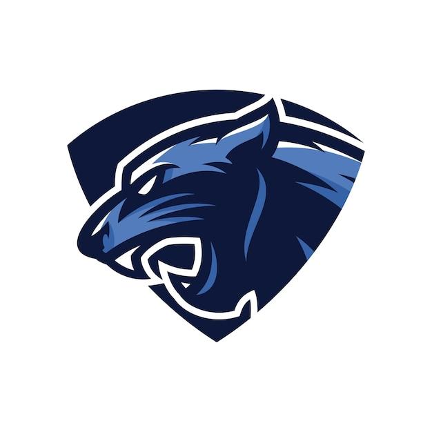 animal head panther vector logo icon illustration mascot