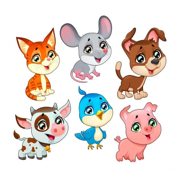 Animales cartoon Vector Gratis