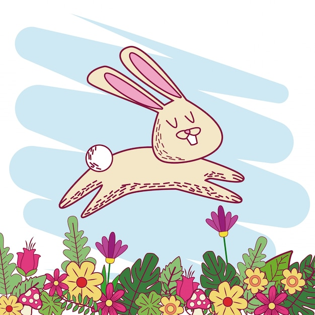 Animales En Dibujos Animados De Primavera Descargar Vectores Premium