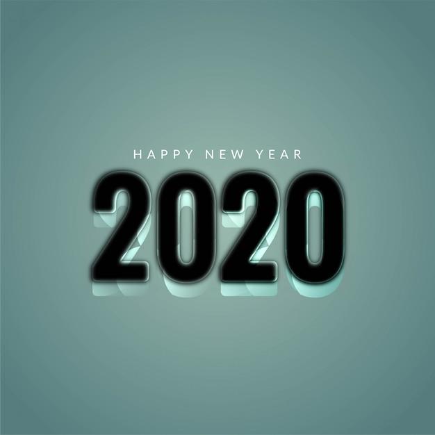 Año nuevo 2020 elegante fondo moderno vector gratuito