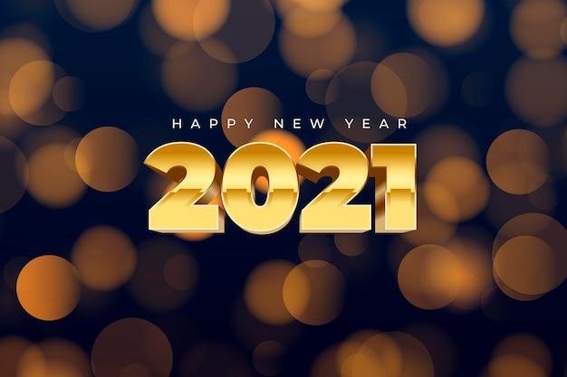 Año nuevo borrosa 2021 Vector Premium