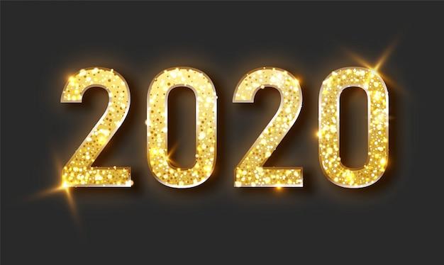 Año nuevo fondo brillante con reloj de oro y brillo. Vector Premium
