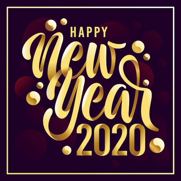 Año nuevo fondo dorado vector gratuito