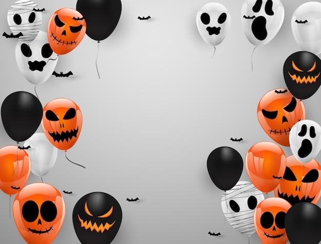 Antecedentes del carnaval de halloween, Vector Premium