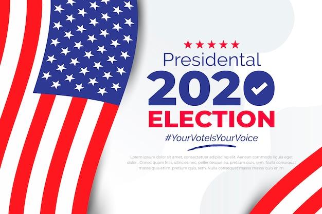 Antecedentes de las elecciones presidenciales de ee. uu. 2020 vector gratuito