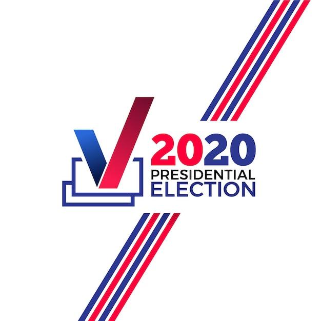 Antecedentes de las elecciones presidenciales de ee. uu. 2020 Vector Premium