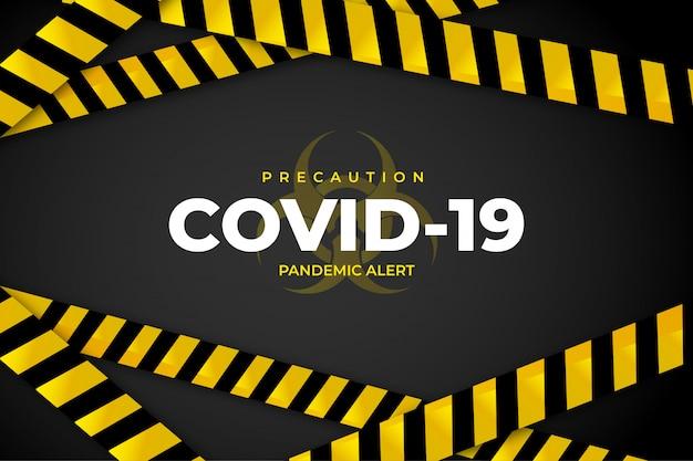 Antecedentes de precaución de covid-19 vector gratuito