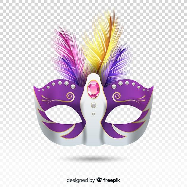 Antifaz realista del carnaval de brasil vector gratuito