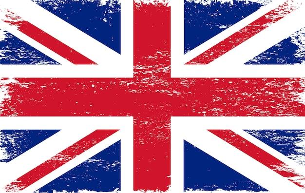 Antigua bandera de jingdom unido grunge Vector Premium