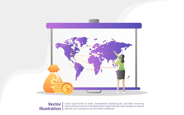 Anuncio de atención, marketing digital, relaciones públicas, campaña publicitaria, promoción comercial. Vector Premium