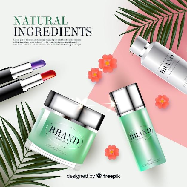 Anuncio de cosmética vector gratuito