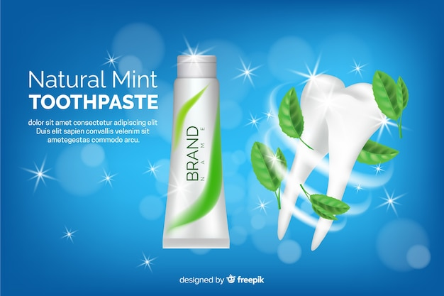 Anuncio de pasta de dientes vector gratuito