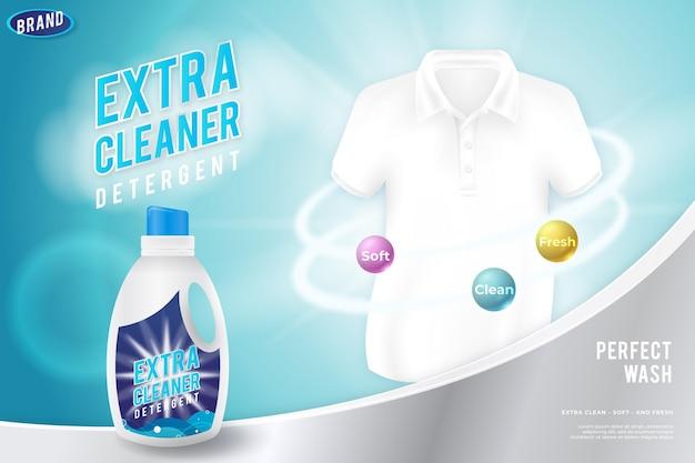 Anuncio de productos de limpieza realistas vector gratuito