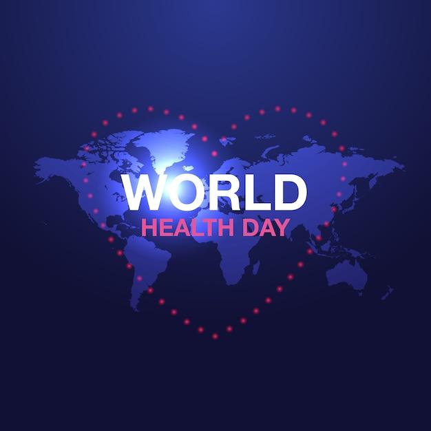 Anuncios de banner del día mundial de la salud Vector Premium