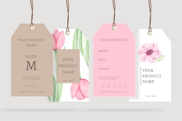 Anuncios realistas perchas florales de primavera Vector Premium