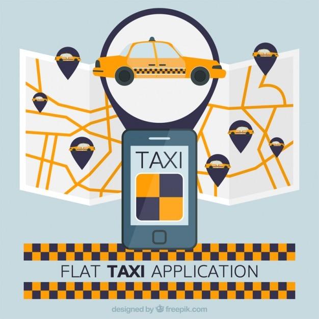 Aplicaci n de taxi con mapa en dise o plano descargar for Aplicacion para planos