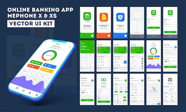 Aplicación móvil de banca en línea. Vector Premium