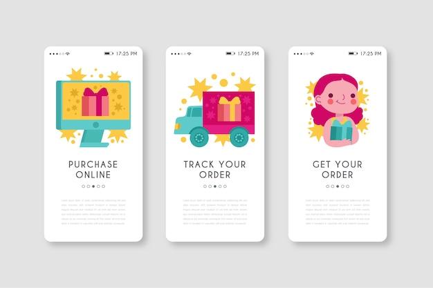 Aplicación de teléfono móvil para comprar productos en línea vector gratuito