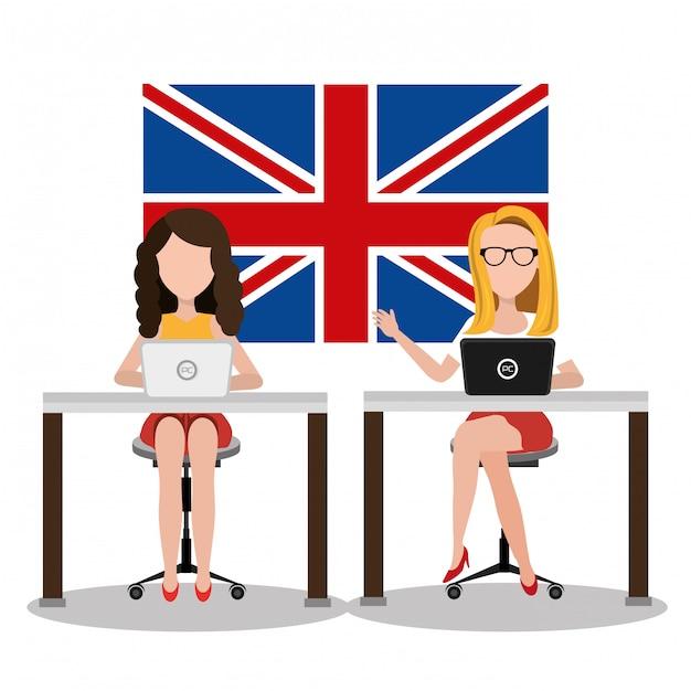 Aprende inglés diseño vector gratuito