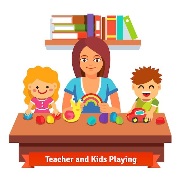 Aprendizaje y educación preescolar vector gratuito