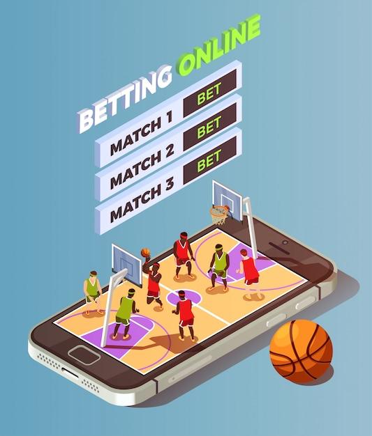 Apuestas de baloncesto en línea vector gratuito