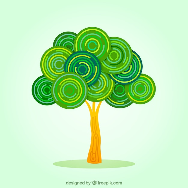 Árbol abstracto vector gratuito