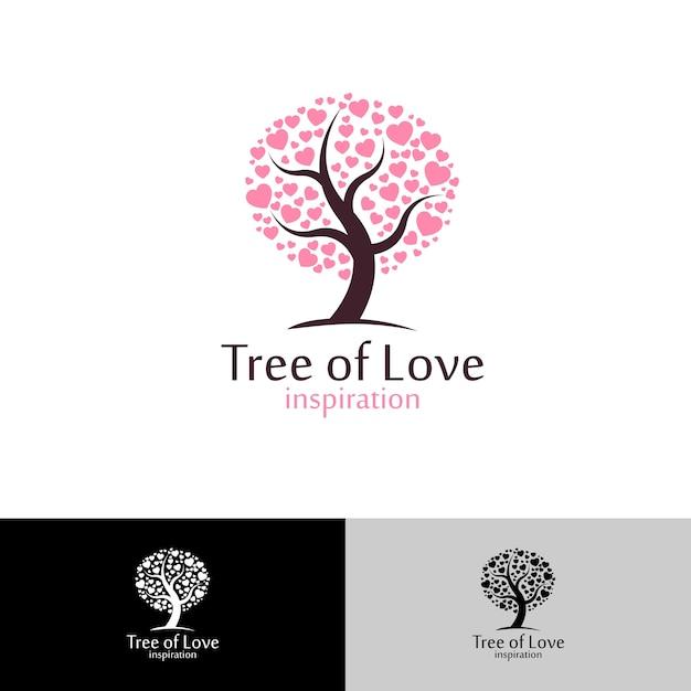Árbol de amor Vector Premium