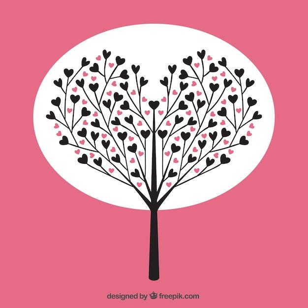Árbol con corazones | Descargar Vectores gratis