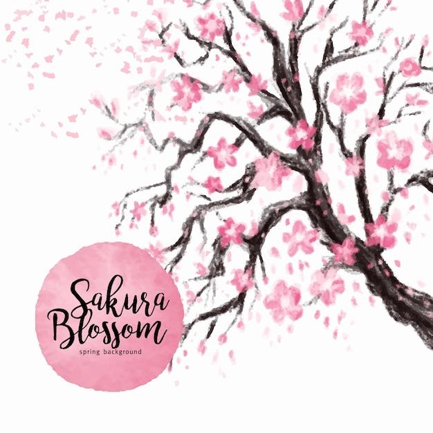 Rbol con flores rosas descargar vectores gratis - Arbol de rosas ...