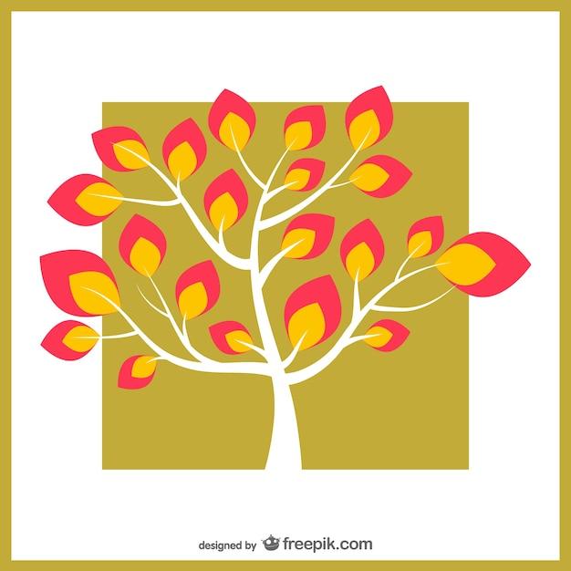 rbol con hojas de colores descargar vectores gratis