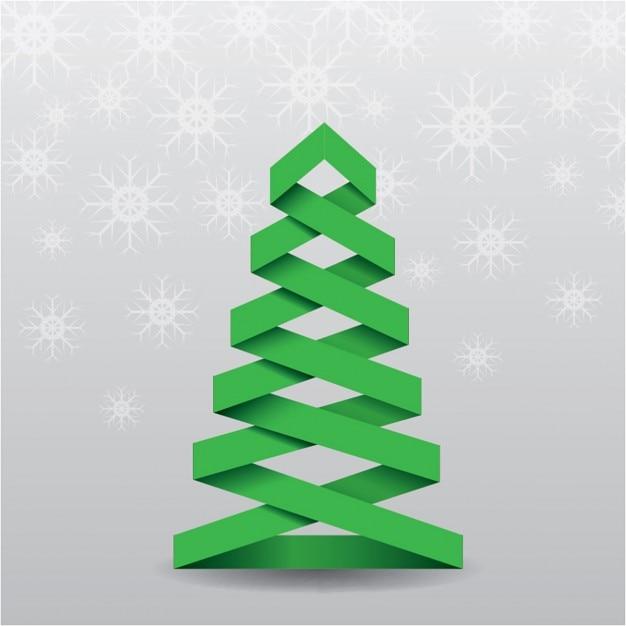 rbol de navidad 3d sobre un fondo gris Descargar Vectores gratis
